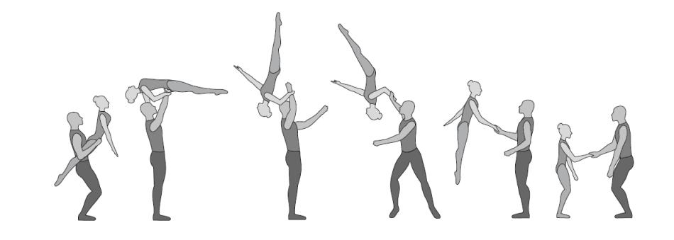 Swing gestreckt (aus dem Hüftsitz)