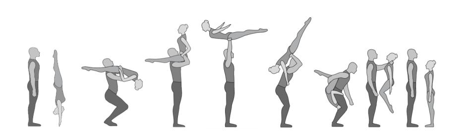 Handstand aufrollen auf die Schulter Todessturz
